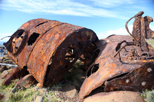 Remains of the boiler of the SS Monaro