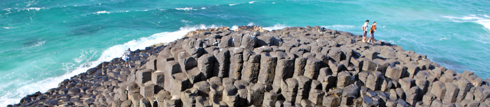 Fingal Head - a mini Giant's Causeway