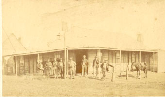 Nicholas Cooney's Hotel, corner Herbert and Bayly Streets, Gulgong, Holtermann Collection. Photo courtesy of National Library of Australia