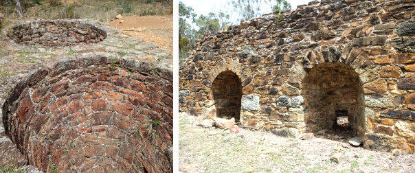 Quartz roasting kilns and pits