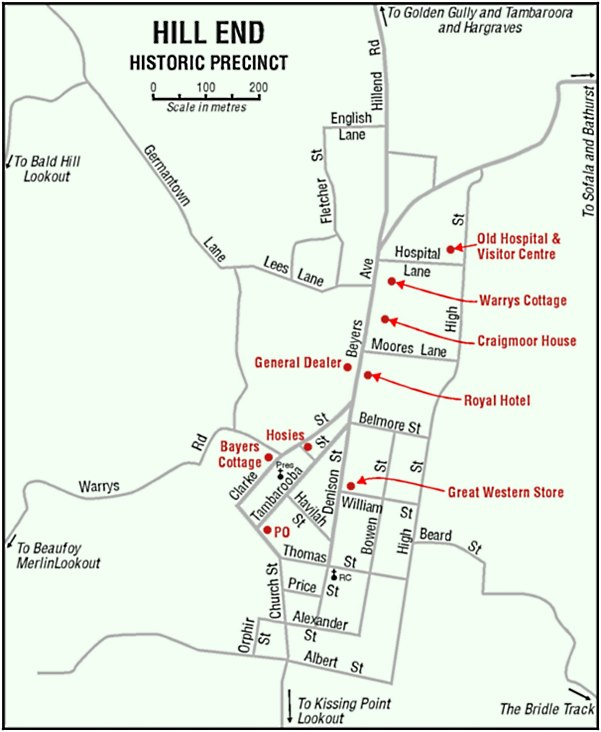 Hill End Historic Precinct Map