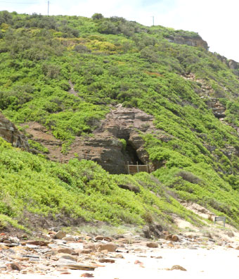 One of the first railway tunnels built in Australia through the headland to Merewether