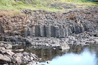 Columnar jointing at the little blowhole