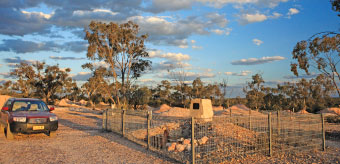 Site of original shaft dug at Lightning Ridge by Charles Waterhouse Nettleton. Although no opal was discovered in this particular shaft, Nettleton recognised the potential of nobby black opal